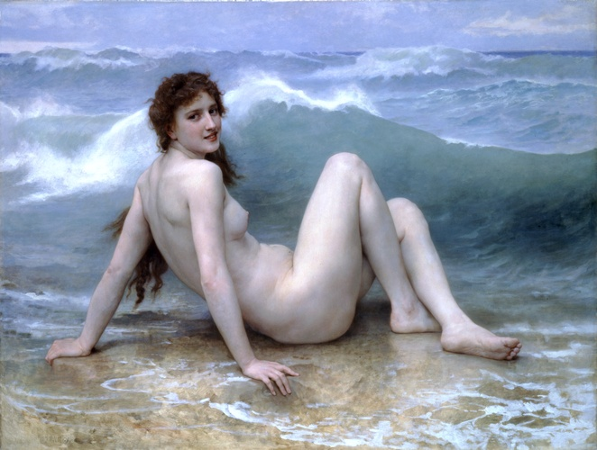 famous painting der welle of William Adolphe Bouguereau