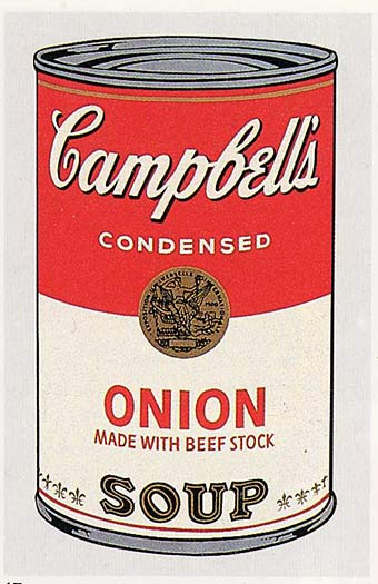 famous painting Campbell'S suppe kann ( zwiebel ) of Andy Warhol
