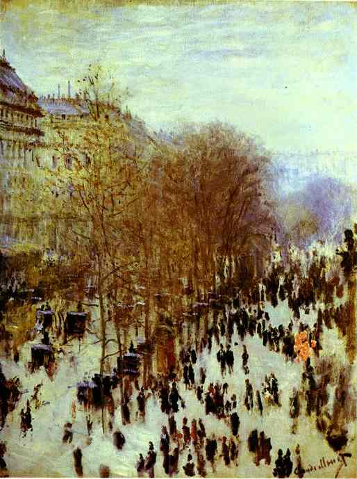 Bestellen Museumsqualität Prints | der boulevard des capucines von Claude Monet | Most-Famous-Paintings.com