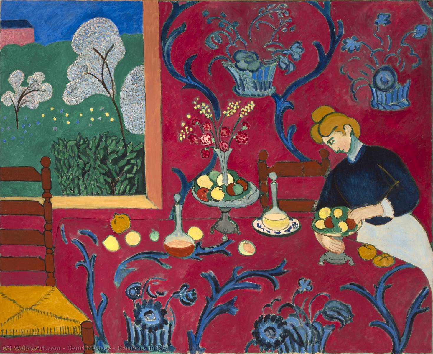 famous painting harmonie in rot of Henri Matisse