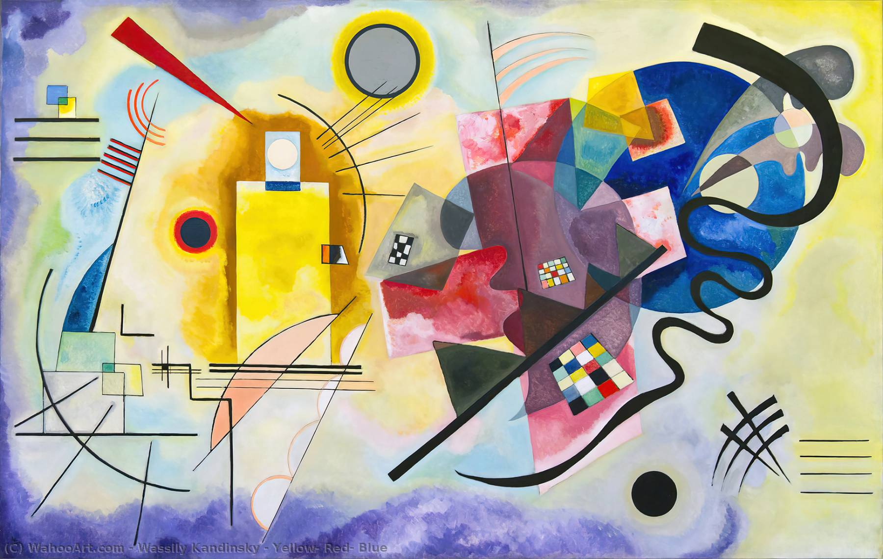 famous painting Gelb , Rot , Blau of Wassily Kandinsky