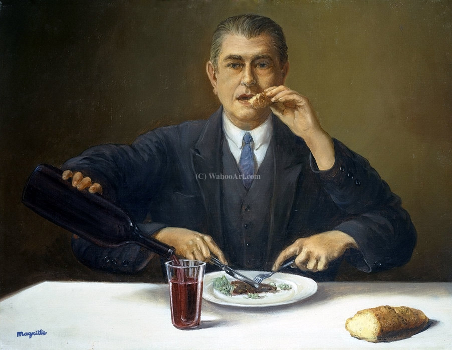 | der zauberer von Rene Magritte | Most-Famous-Paintings.com