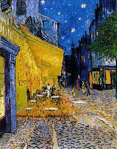 Vincent Van Gogh - die cafe-terrasse am place du forum ( cafe terrasse in der nacht )