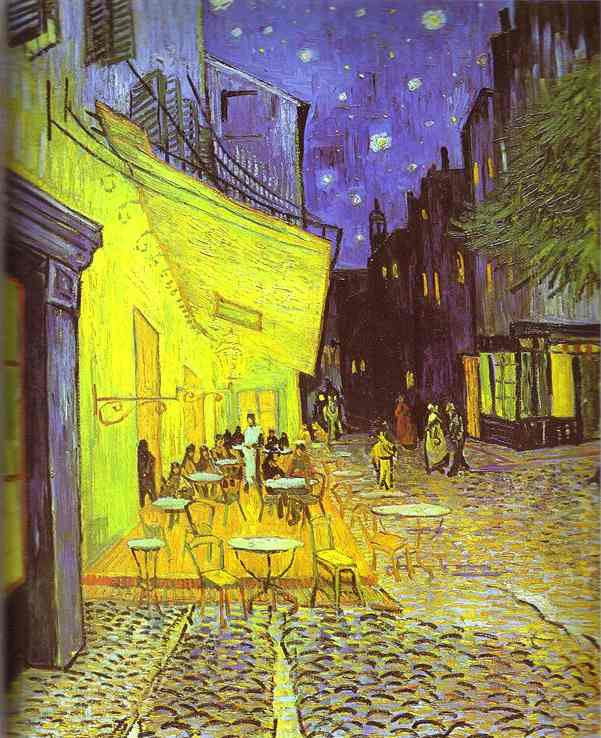 Bestellen Museumsqualität Prints | café terrasse in der nacht von Vincent Van Gogh | Most-Famous-Paintings.com