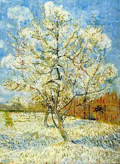 famous painting pfirsichbaum in blüte of Vincent Van Gogh