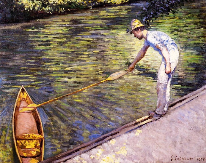 famous painting Boater Ziehen an seine Perissoire of Gustave Caillebotte