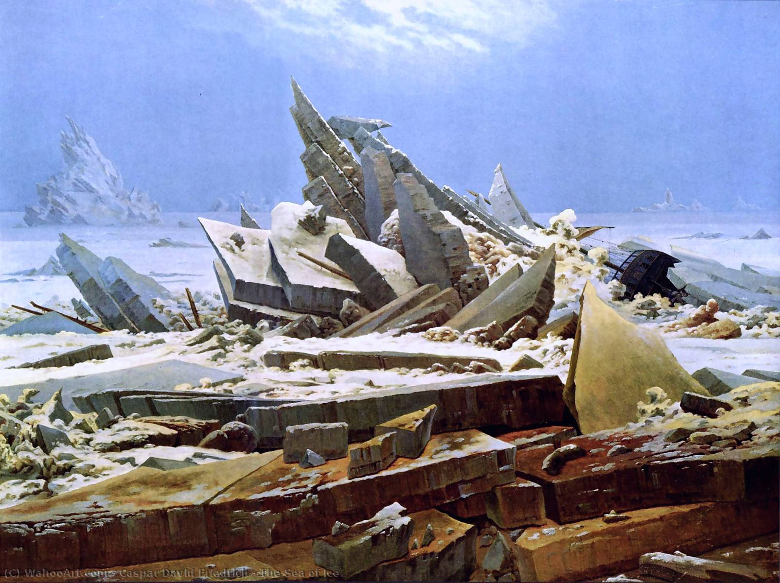 famous painting Das Eismeer of Caspar David Friedrich
