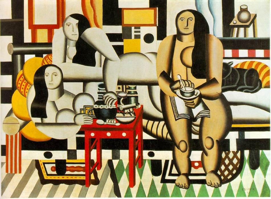 | drei frauen von Fernand Leger | Most-Famous-Paintings.com