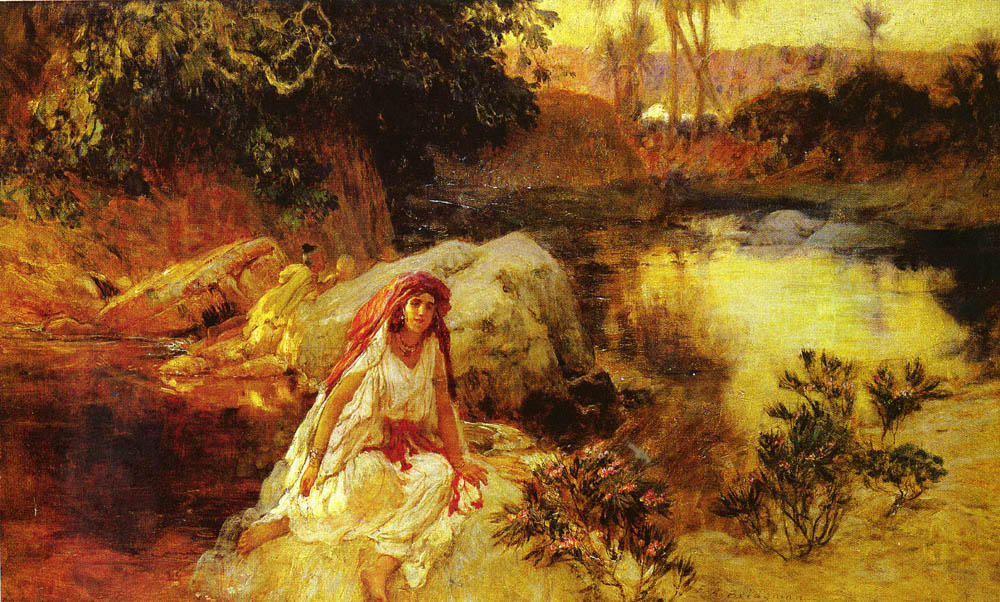 famous painting At The Oasis of Frederick Arthur Bridgman