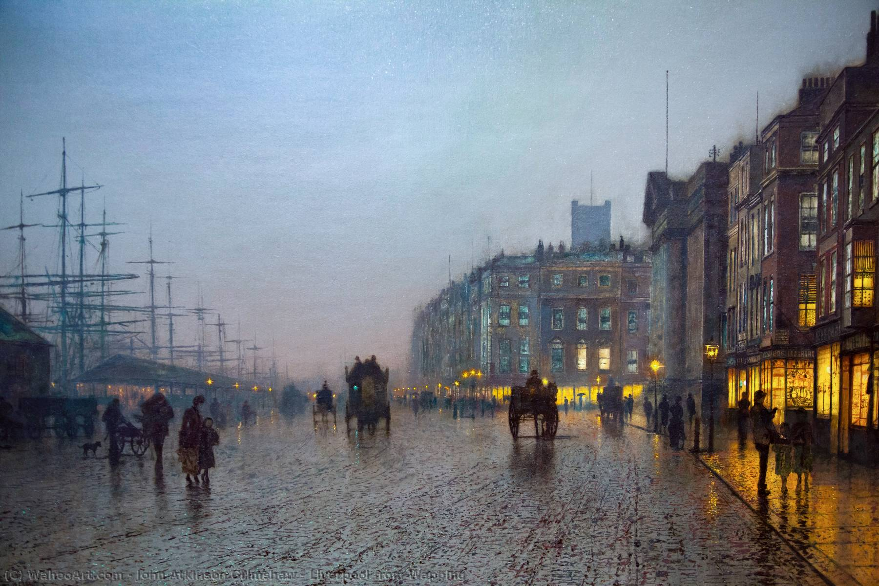 famous painting liverpool von wapping of John Atkinson Grimshaw