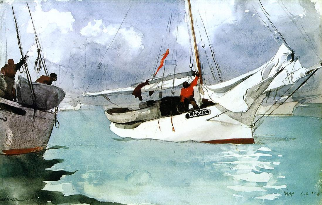 Bestellen Gemälde Reproduktionen | fischerboote , key west von Winslow Homer | Most-Famous-Paintings.com