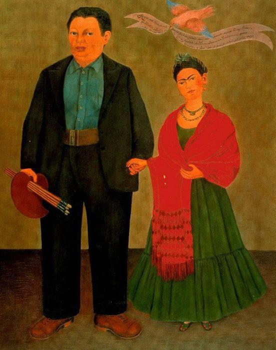 | frida und diego rivera von Frida Kahlo | Most-Famous-Paintings.com