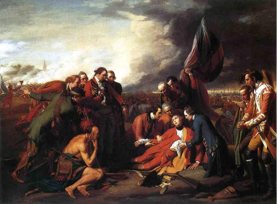 Bestellen Gemälde Reproduktionen | der tod von general wolfe von Benjamin West | Most-Famous-Paintings.com