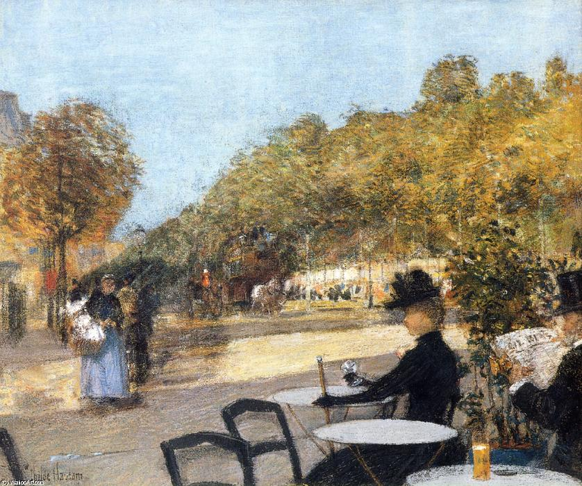 famous painting Im Café of Frederick Childe Hassam