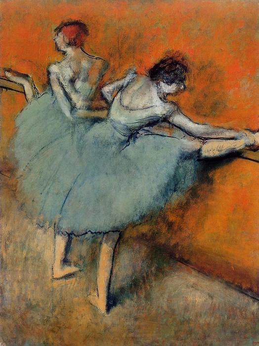 famous painting Tänzer am Barre 1   of Edgar Degas