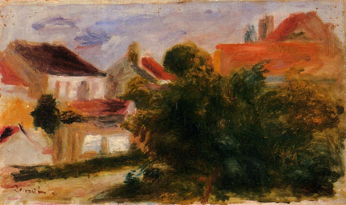 famous painting Landschaft bei Essoyes of Pierre-Auguste Renoir