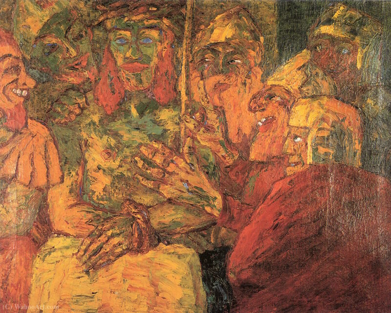 | die verspottung christi von Emile Nolde | Most-Famous-Paintings.com