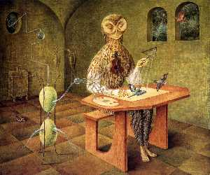 Remedios Varo - kreation von vögel