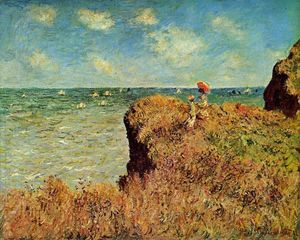 Claude Monet - der cliff walk , Pourville