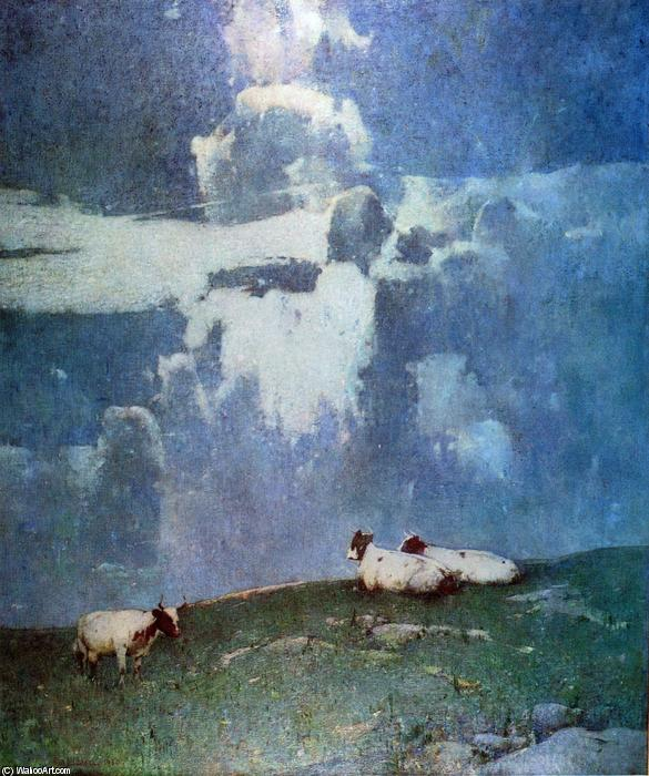 famous painting abend licht of Soren Emil Carlsen