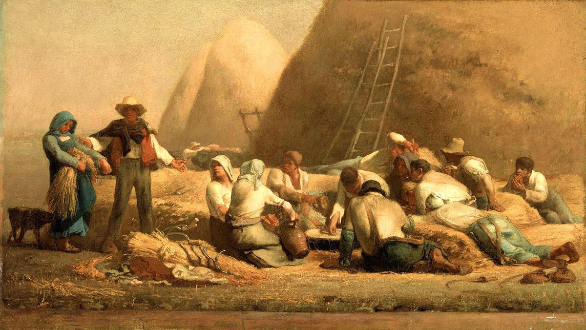 famous painting Ernte Resting of Jean-François Millet
