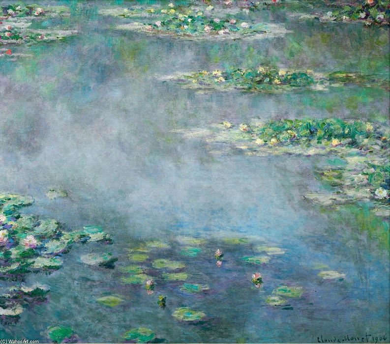 Bestellen Kunstreproduktionen | Seerosen 18 von Claude Monet | Most-Famous-Paintings.com