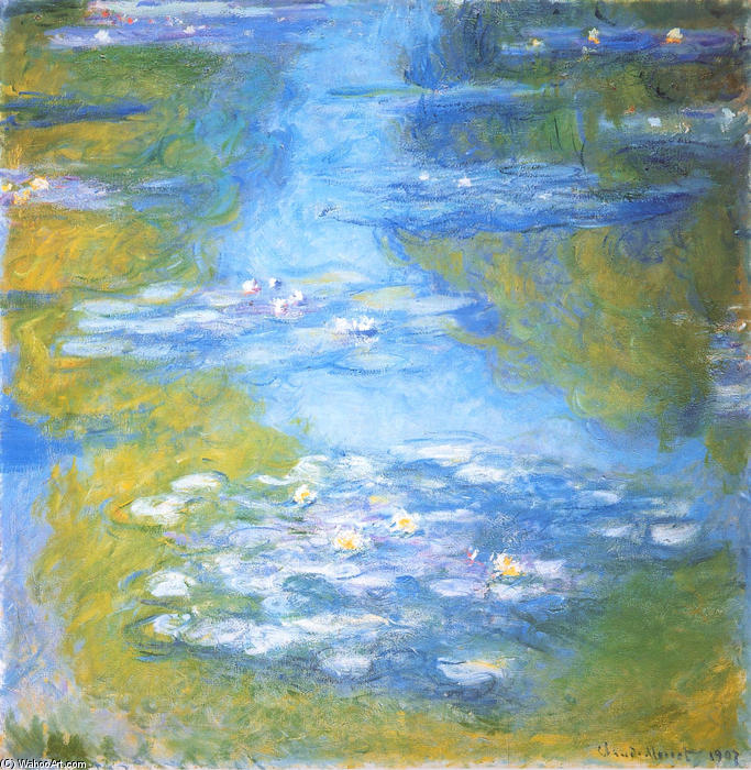 famous painting Seerosen 23 of Claude Monet