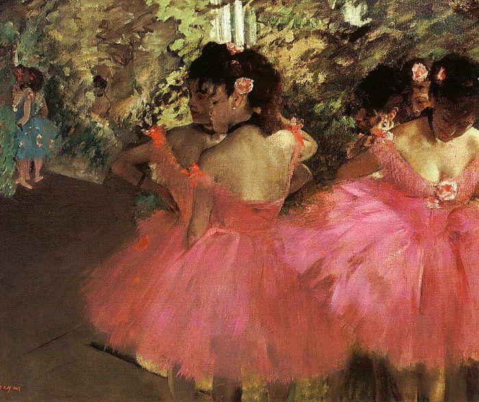 famous painting tänzer in pink of Edgar Degas