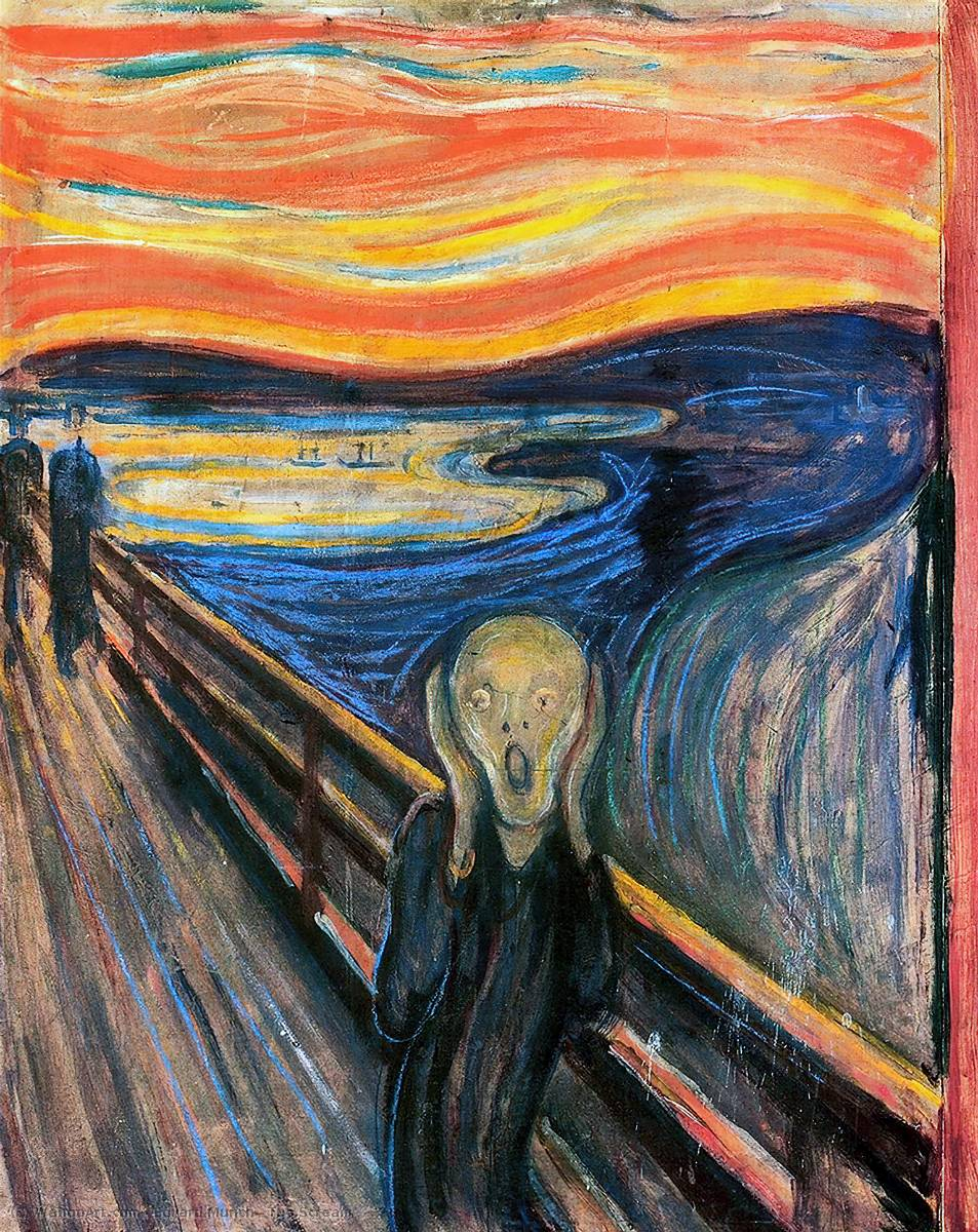 famous painting Der Schrei of Edvard Munch