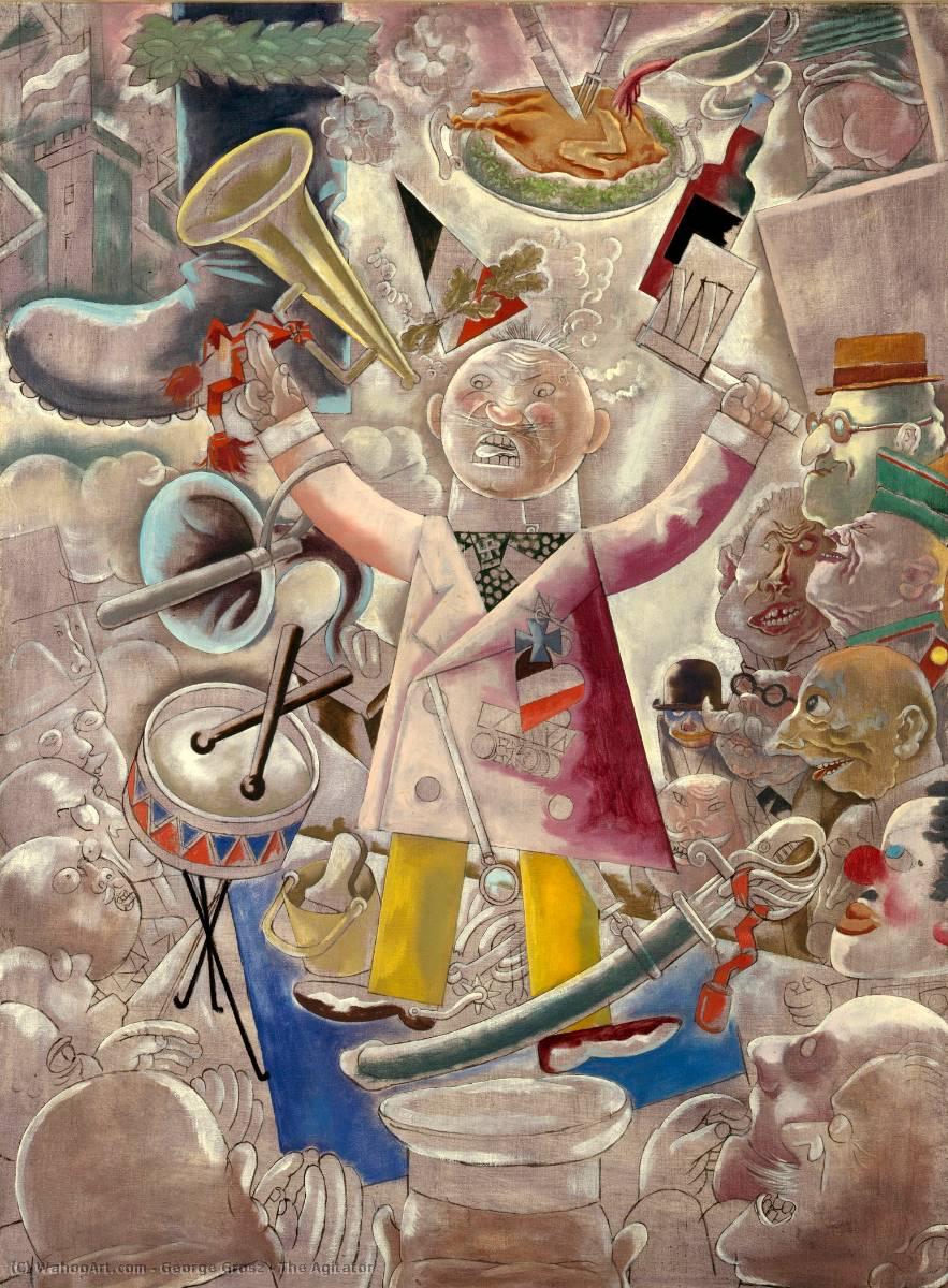 | Der Agitator von George Grosz | Most-Famous-Paintings.com