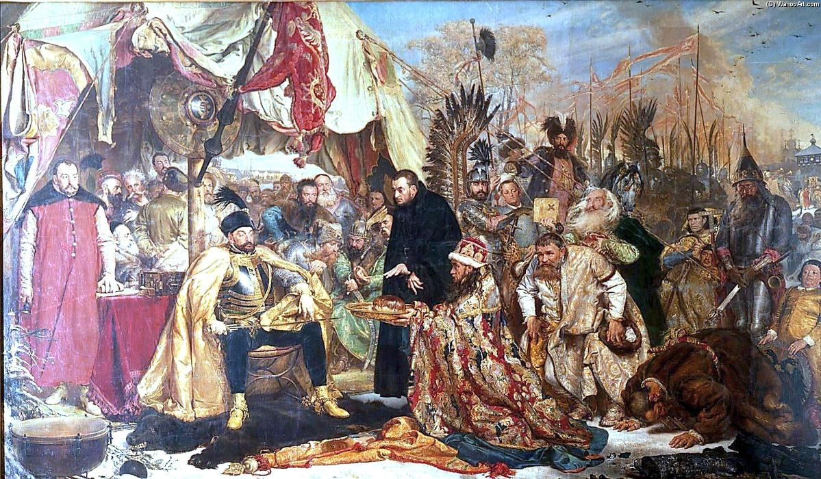 famous painting Bathory bei Pskov of Jan Matejko