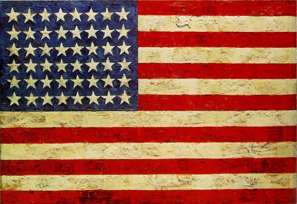 famous painting flagge of Jasper Johns