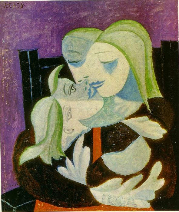 | Mutter und kind ( Marie-Therese und maya ) von Pablo Picasso | Most-Famous-Paintings.com