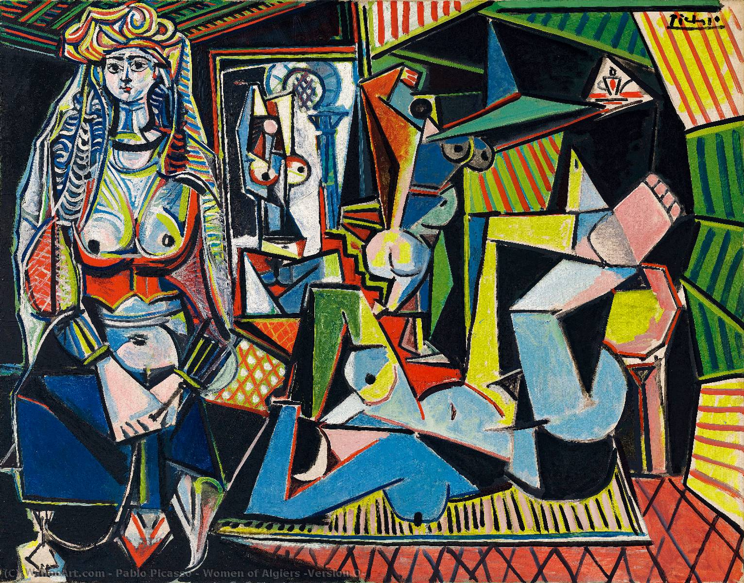 | frauen aus algier ( version o. ) von Pablo Picasso | Most-Famous-Paintings.com