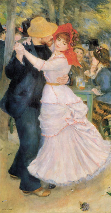 famous painting Tanz bei Bougival of Pierre-Auguste Renoir