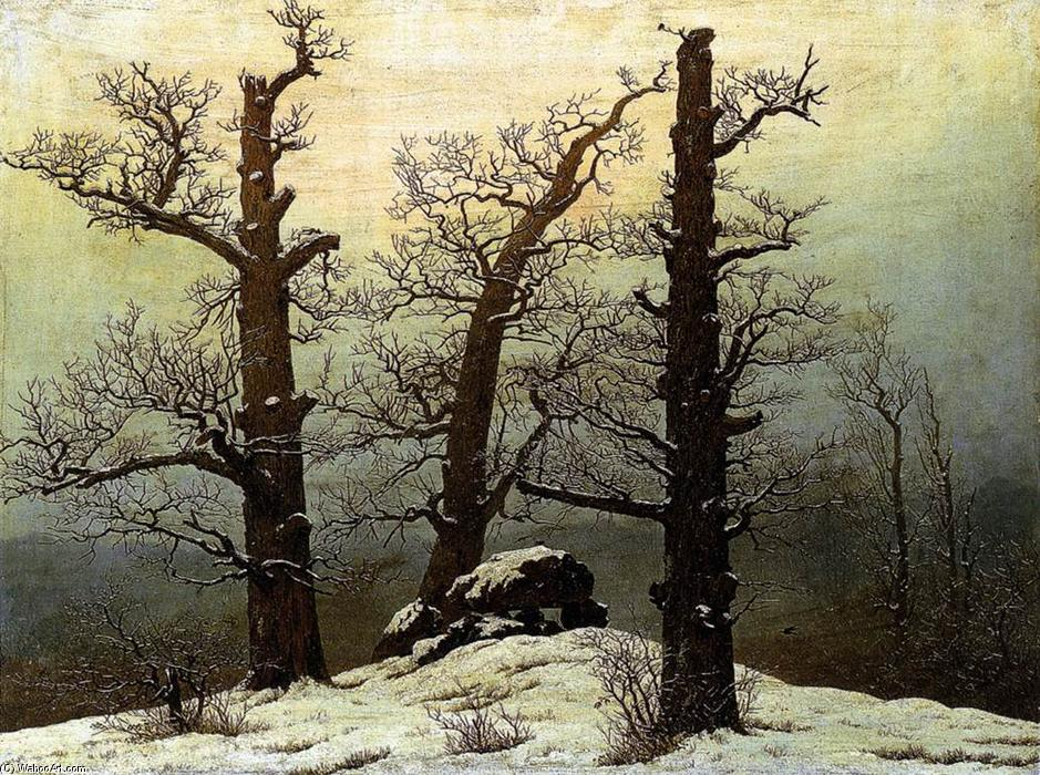 famous painting Dolmen in der schnee of Caspar David Friedrich
