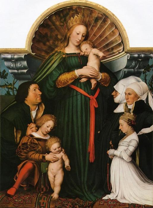 famous painting Meyer Madonna (auch als Darmstadt Madonna bekannt) of Hans Holbein The Younger