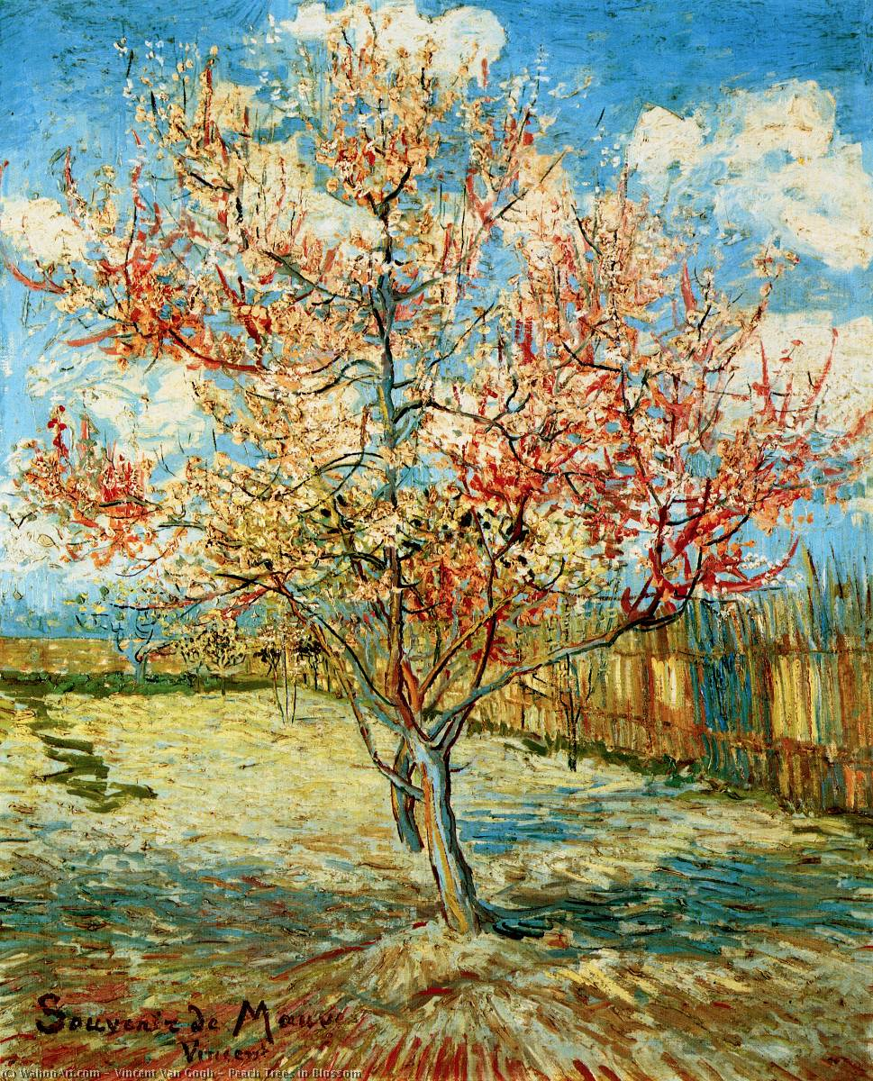famous painting pfirsichbäume in blüte of Vincent Van Gogh