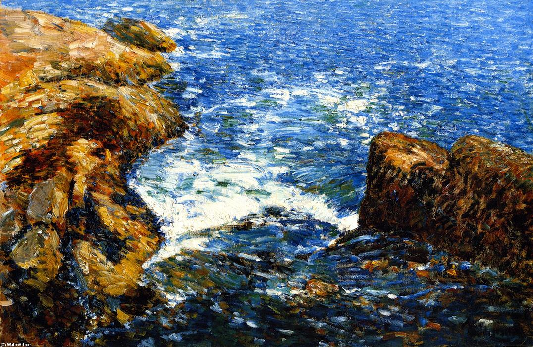 famous painting Surf und steine  of Frederick Childe Hassam