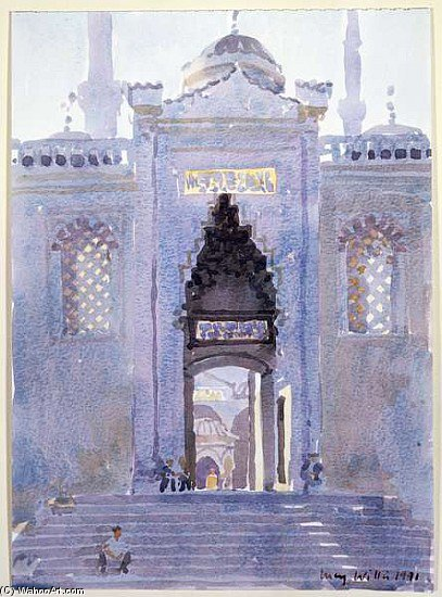 famous painting gateway der  blau  moschee  of Lucy Willis