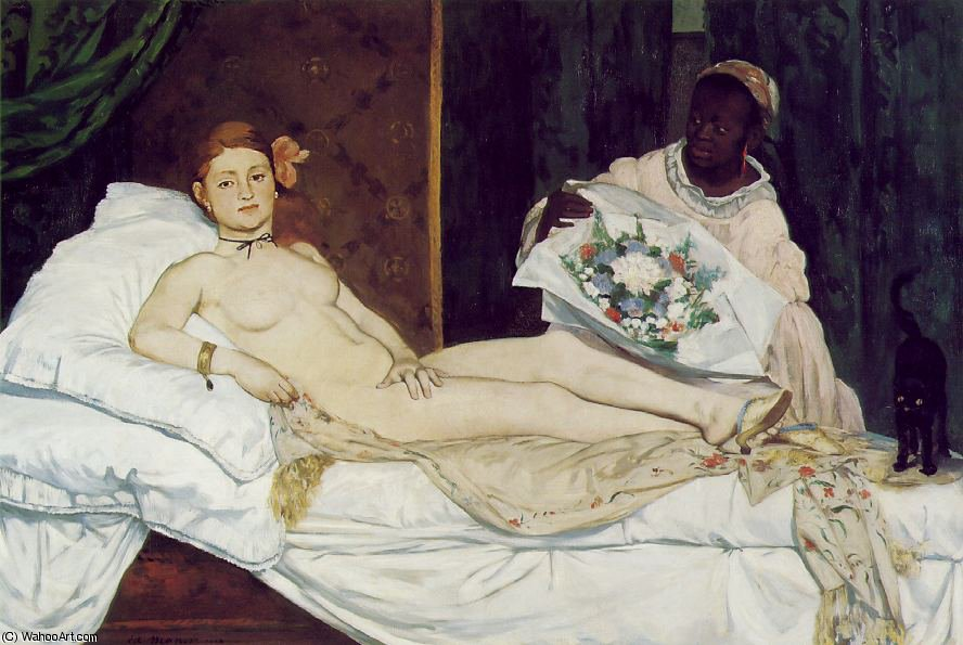 Bestellen Kunstreproduktionen | Olympia , Musee d'Orsay , Paris von Edouard Manet | Most-Famous-Paintings.com