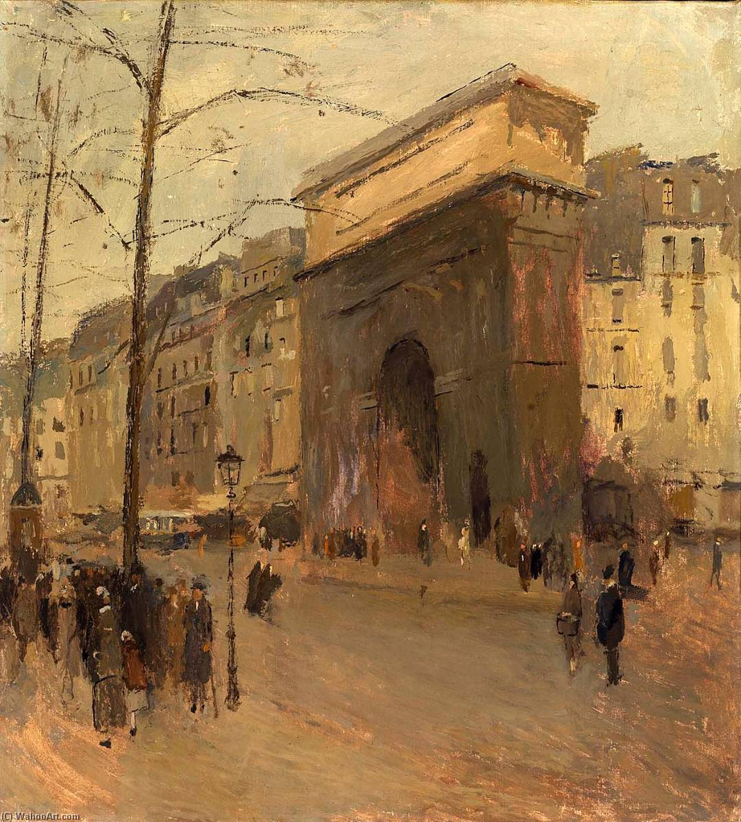 Bestellen Kunstreproduktionen | Porte Str . Denis induced von Frank Edwin Scott | Most-Famous-Paintings.com