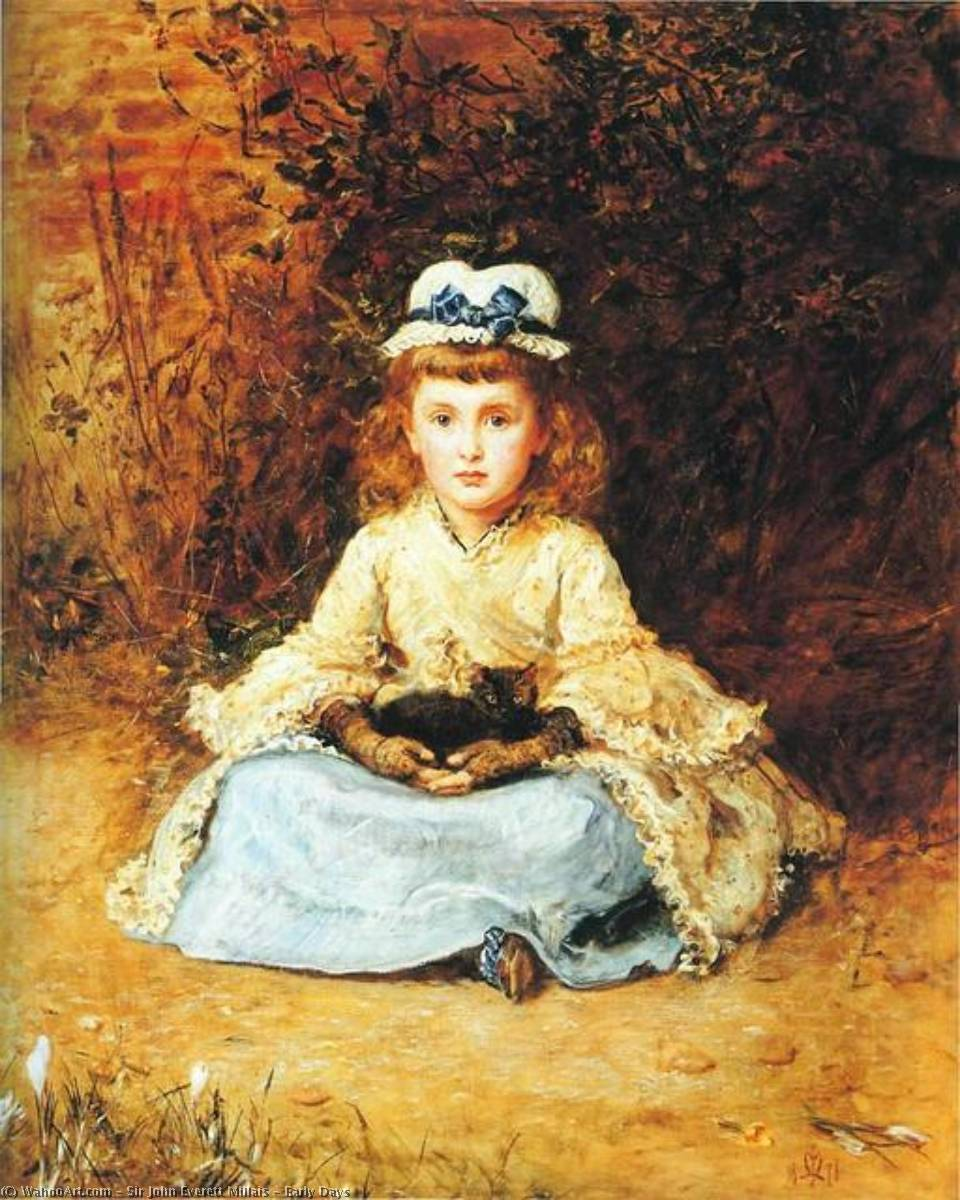 famous painting Jugendzeit of John Everett Millais